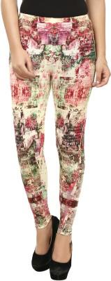 Beetle Women's Green, Pink Leggings