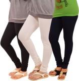 Leggings World Women's White, Black, Blu...