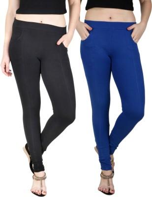 Baremoda Women's Black, Blue Jeggings