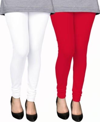 PAMO Women,s White, Red Leggings