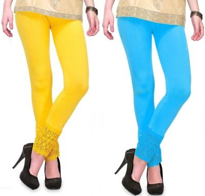 RobinRomeo Women's Blue, Yellow Leggings