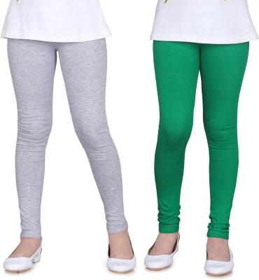 Sini Mini Girl's Grey, Green Leggings