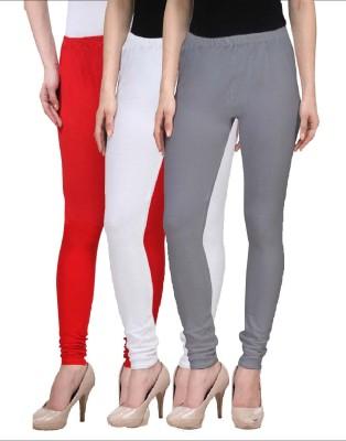 Desi Duos Women's Red, White, Grey Leggings