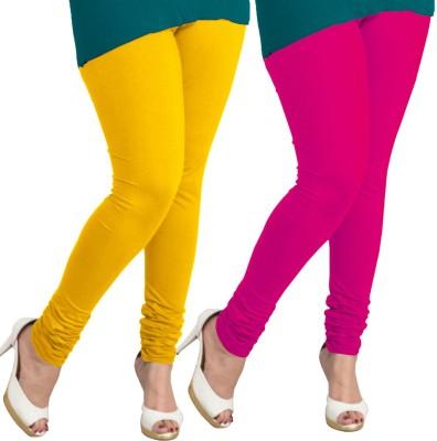 I-Diva Women's Yellow, Pink Leggings