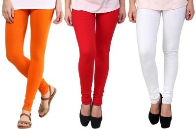 Legemat Girl,s Orange, Red, White Leggings