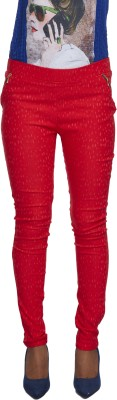 Milano Homme Women's Red Jeggings