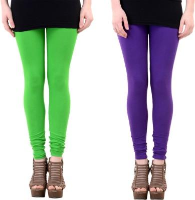 Mynte Women's Purple, Green Leggings