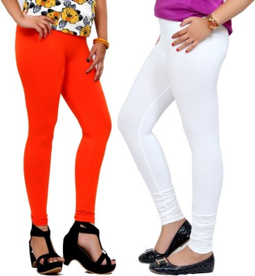 By The Way Women's Orange, White Leggings
