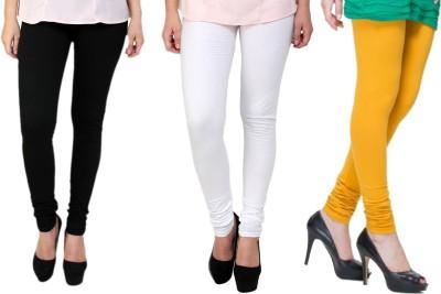 Lienz Women's Black, White, Yellow Leggings
