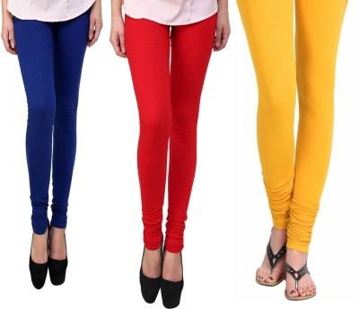 Vastra Buzz Women's Yellow, Red, Dark Blue Leggings