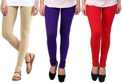 Legemat Girl,s Beige, Purple, Red Leggings
