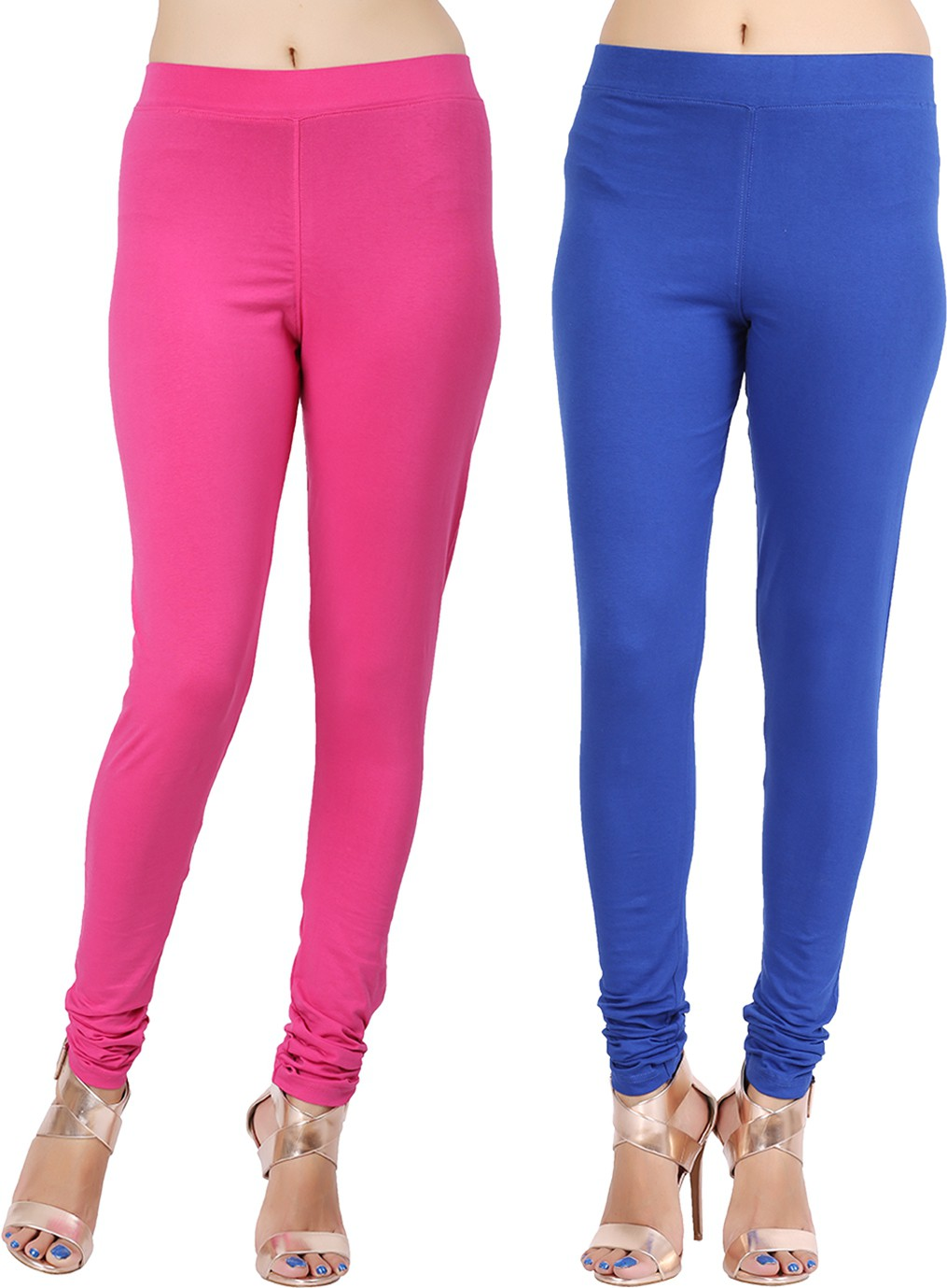 Lula Ms Womens Pink, Dark Blue Leggings(Pack of 2)