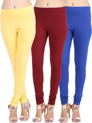 Lula Ms Women's Brown, Dark Blue, Yellow Leggings