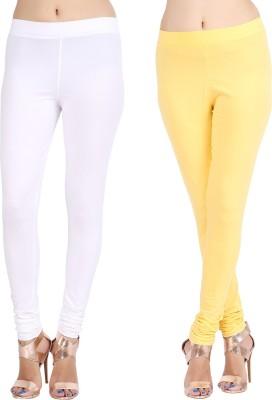 Lula Ms Women's White, Yellow Leggings