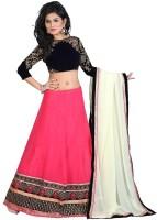 Edeal Online Chaniya, Ghagra Cholis - Edeal Online Embroidered Women's Lehenga, Choli and Dupatta Set(Stitched)