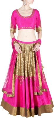 Nitscreation Embroidered Women's Lehenga, Choli and Dupatta Set