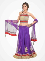 Rooprahasya Chaniya, Ghagra Cholis - RoopRahasya Embroidered, Applique Women's Lehenga, Choli and Dupatta Set(Stitched)