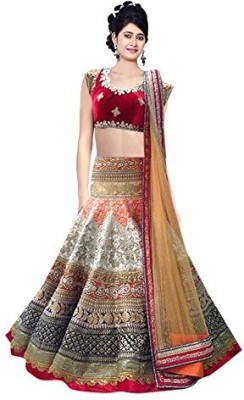 shreekhodalenterprise Embroidered Women's Lehenga, Choli and Dupatta Set