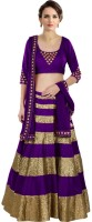 Jassu Fashion Hub Chaniya, Ghagra Cholis - Jassu Fashion Hub Embroidered Women's Lehenga, Choli and Dupatta Set(Stitched)