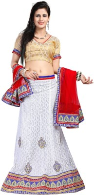 Sareeka Sarees Self Design Women's Lehenga, Choli and Dupatta Set