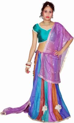 Tehzeeb Self Design Womens Lehenga, Choli and Dupatta Set