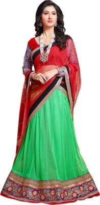 Fashionatics Embroidered Women's Lehenga, Choli and Dupatta Set