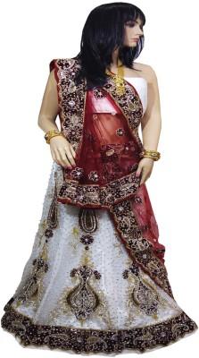 Anjan Self Design Women's Lehenga, Choli and Dupatta Set