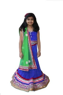 Ritvee Embellished Girl's Lehenga, Choli and Dupatta Set