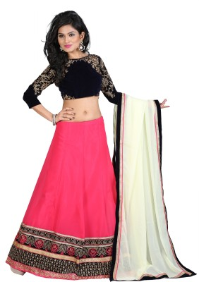 Greenvilla Designs Embroidered Women's Lehenga, Choli and Dupatta Set(Stitched) at flipkart