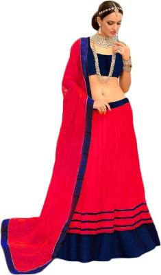 Shahlon Jacquard, Velvet Embellished Lehenga Choli Material