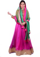 Malti Haute Couture Chaniya, Ghagra Cholis - malti haute couture Applique Women's Lehenga, Choli and Dupatta Set(Stitched)
