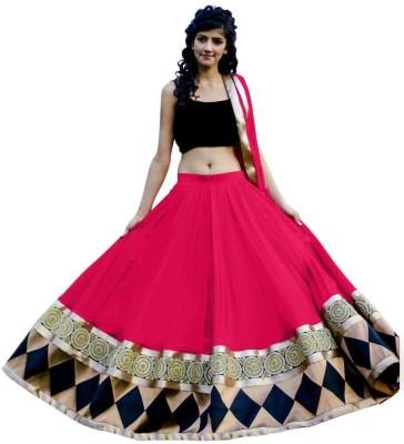 Varni Couture Striped Women's Lehenga, Choli and Dupatta Set