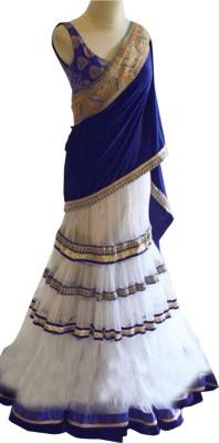 Ishaenterprise Embroidered Women's Ghagra, Choli, Dupatta Set