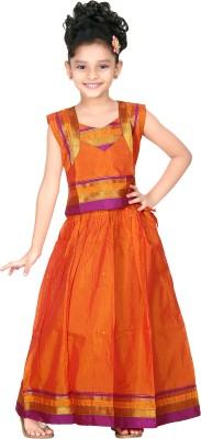 Bhartiya Paridhan Self Design Baby Girl,s Lehenga Choli