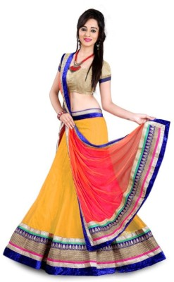 Pooja Fashions Embroidered Women's Lehenga, Choli and Dupatta Set