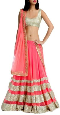 EthnicPark Self Design Women's Lehenga, Choli and Dupatta Set(Stitched) at flipkart