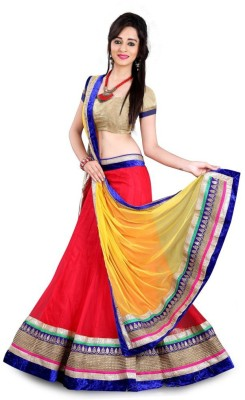 Manvar Enterprise Embroidered Women's Lehenga, Choli and Dupatta Set