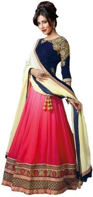Shoppershopee Self Design Women's Lehenga, Choli and Dupatta Set(Stitched) at flipkart