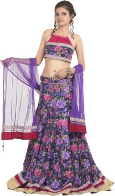 RoopRahasya Floral Print, Self Design Women's Lehenga, Choli and Dupatta Set