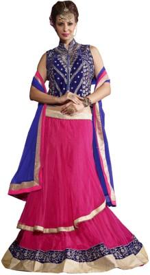 Desi Look Self Design Women's Lehenga, Choli and Dupatta Set(Stitched) at flipkart