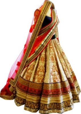 Sunidhi Creation Self Design Women's Lehenga, Choli and Dupatta Set