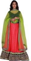 Jugniji Chaniya, Ghagra Cholis - Jugniji Embroidered Women's Lehenga, Choli and Dupatta Set(Stitched)