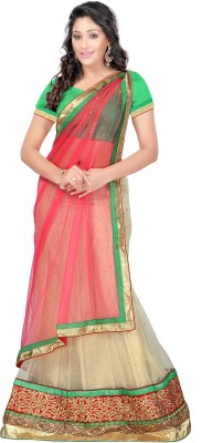 Vakiya Saree Embellished Women's Lehenga, Choli and Dupatta Set