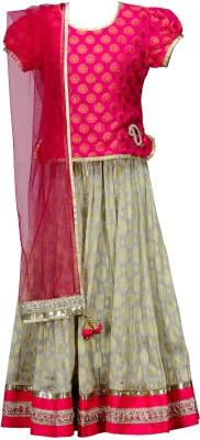 PSPEACHES Self Design Girl's Lehenga Choli