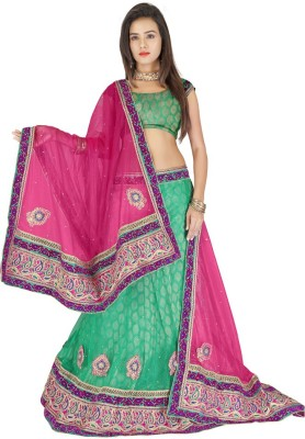 Sareeka Sarees Embroidered Women's Lehenga, Choli and Dupatta Set