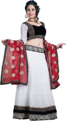 Jamboree Embroidered Women's Lehenga, Choli and Dupatta Set