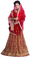 Chamunda Enterprise Chaniya, Ghagra Cholis - Chamunda Enterprise Embroidered Women's Lehenga, Choli and Dupatta Set(Stitched)