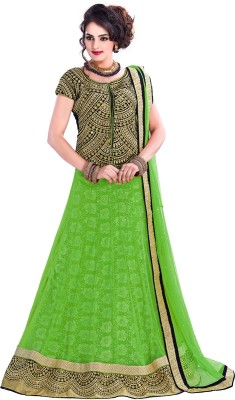 Aarna's Collection Embroidered Women's Lehenga, Choli and Dupatta Set