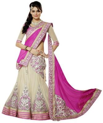 Deepjyoti Creation Self Design Women's Lehenga, Choli and Dupatta Set