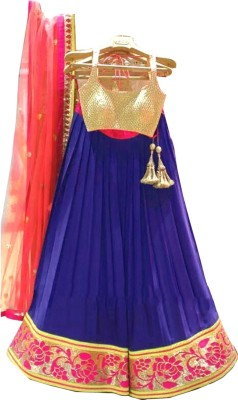 PRN Embroidered Women's Ghagra, Choli, Dupatta Set
